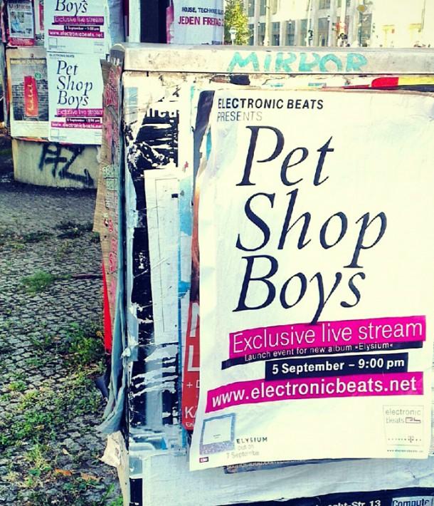 Pet Shop BoysLive Berlin Poster