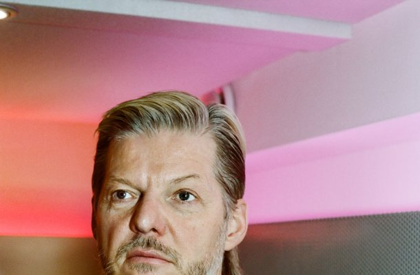 Photo: Wolfgang Voigt in Kompakt HQ Cologne photographed by Andrea Stappert.