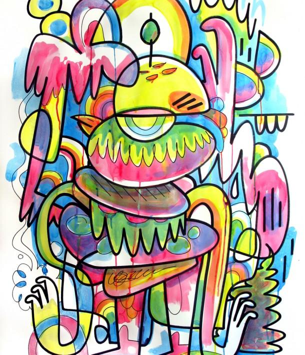 Pictoplasma poster, by Jon Burgerman