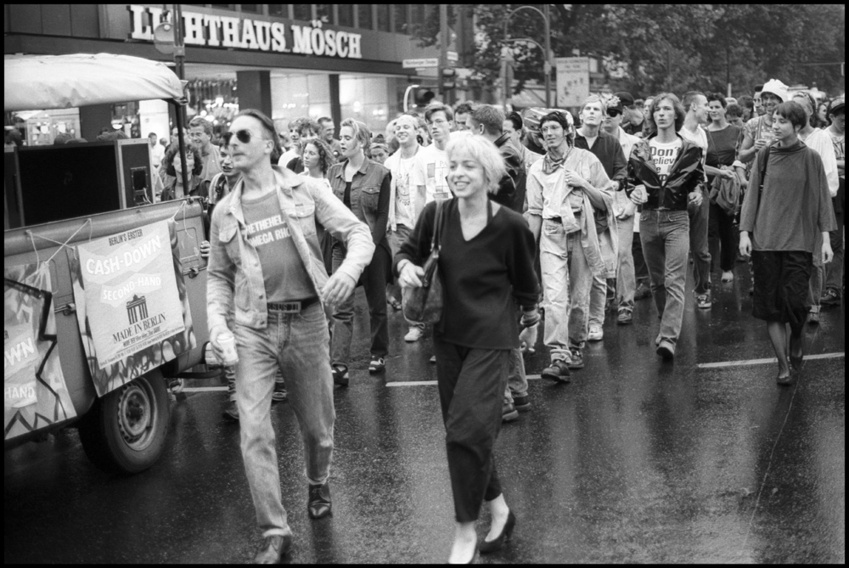 The first Love Parade in 1989. Photo via Der Spiegel.