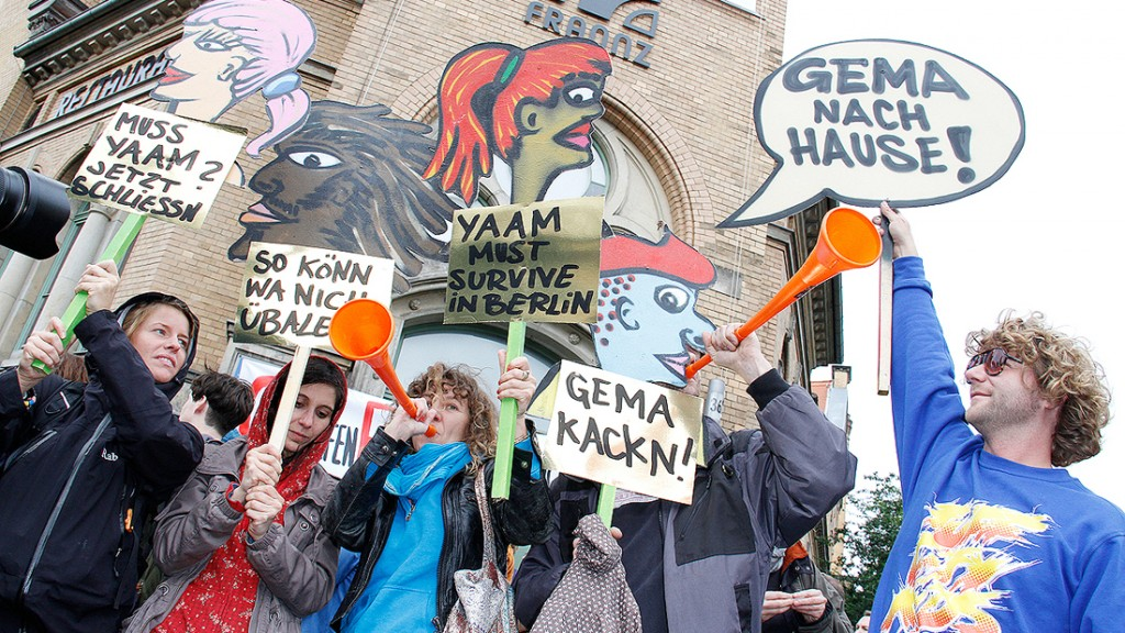 GEMA protest