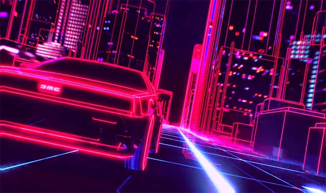 take a night drive with a synthwave megamix  u2013 telekom