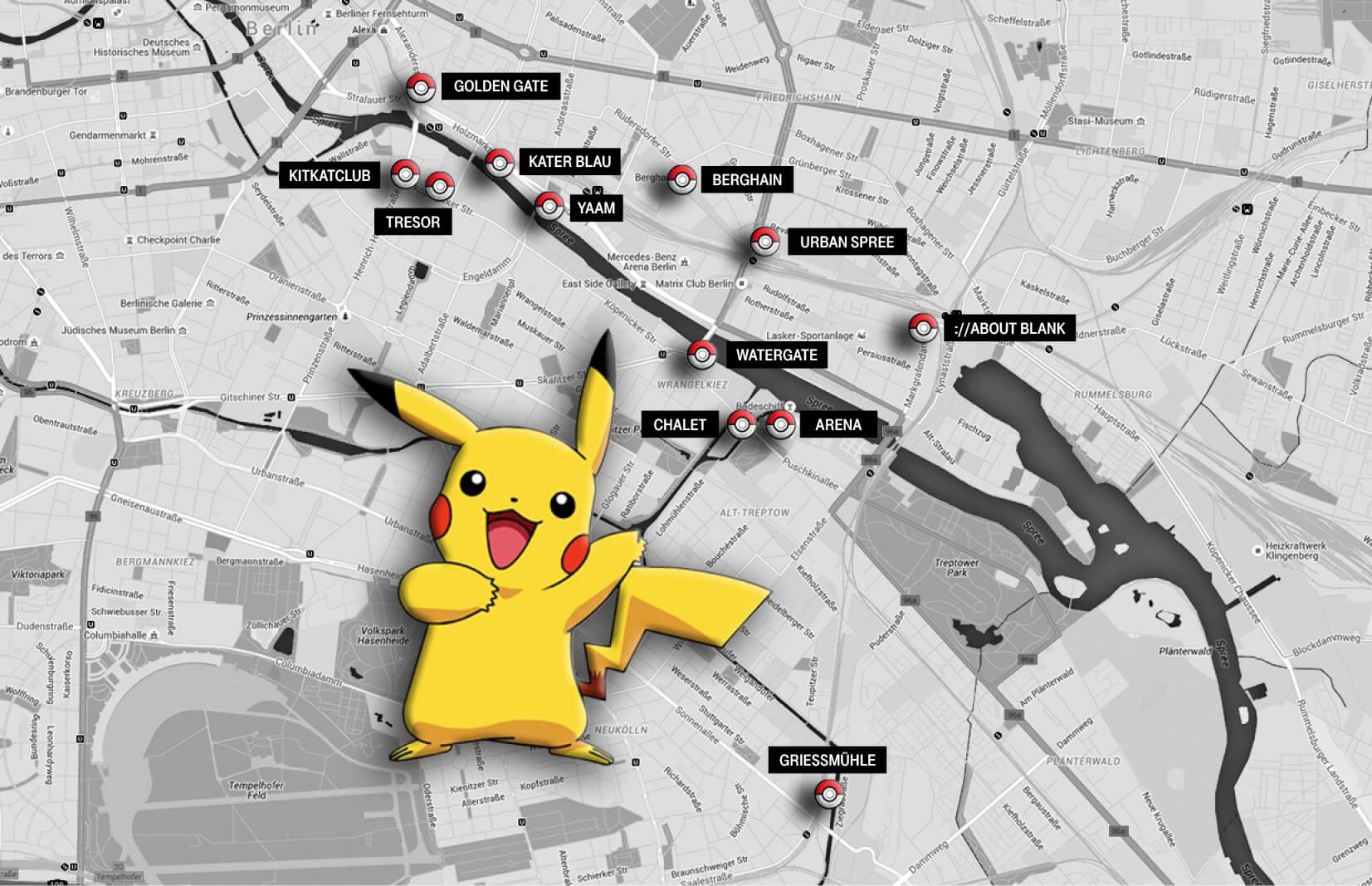 Which Berlin Clubs Are The Best For Pokémon Go? – Telekom Electronic