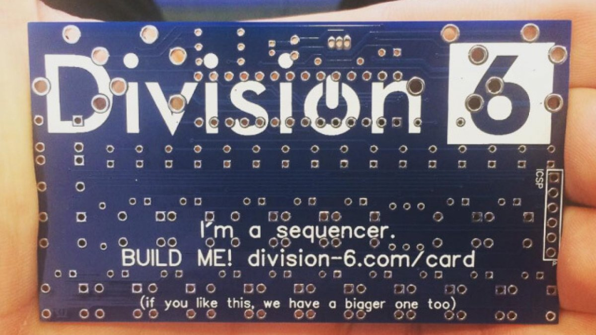You Can Make Your Own Step Sequencer With This Business Card ...