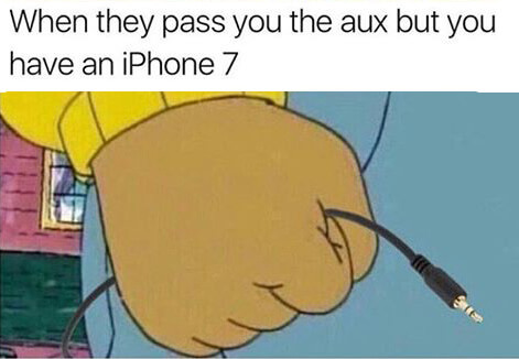 iPhone 7 meme