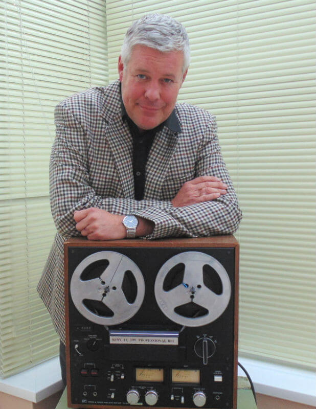 Robin with the tapes