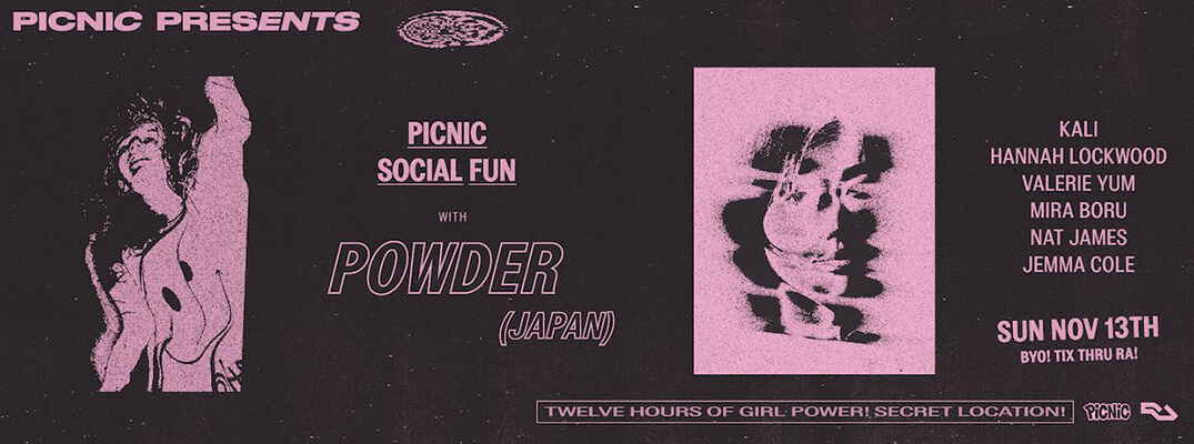 Picnic Presents Powder Flyer