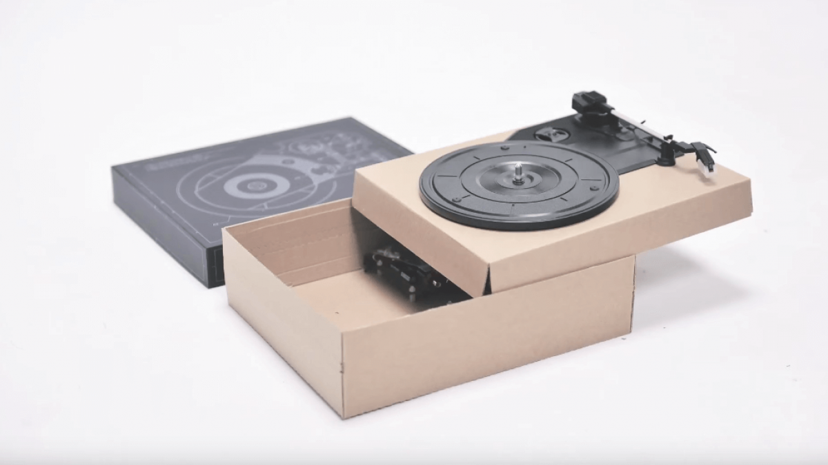 This Diy Kit Lets You Make A Turntable From Cardboard And
