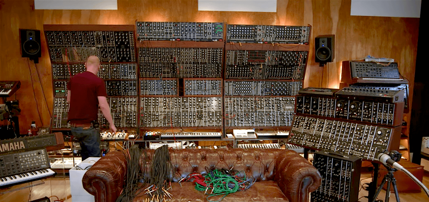 explore the art of synthesis on this massive modular synth wall telekom electronic beats. Black Bedroom Furniture Sets. Home Design Ideas
