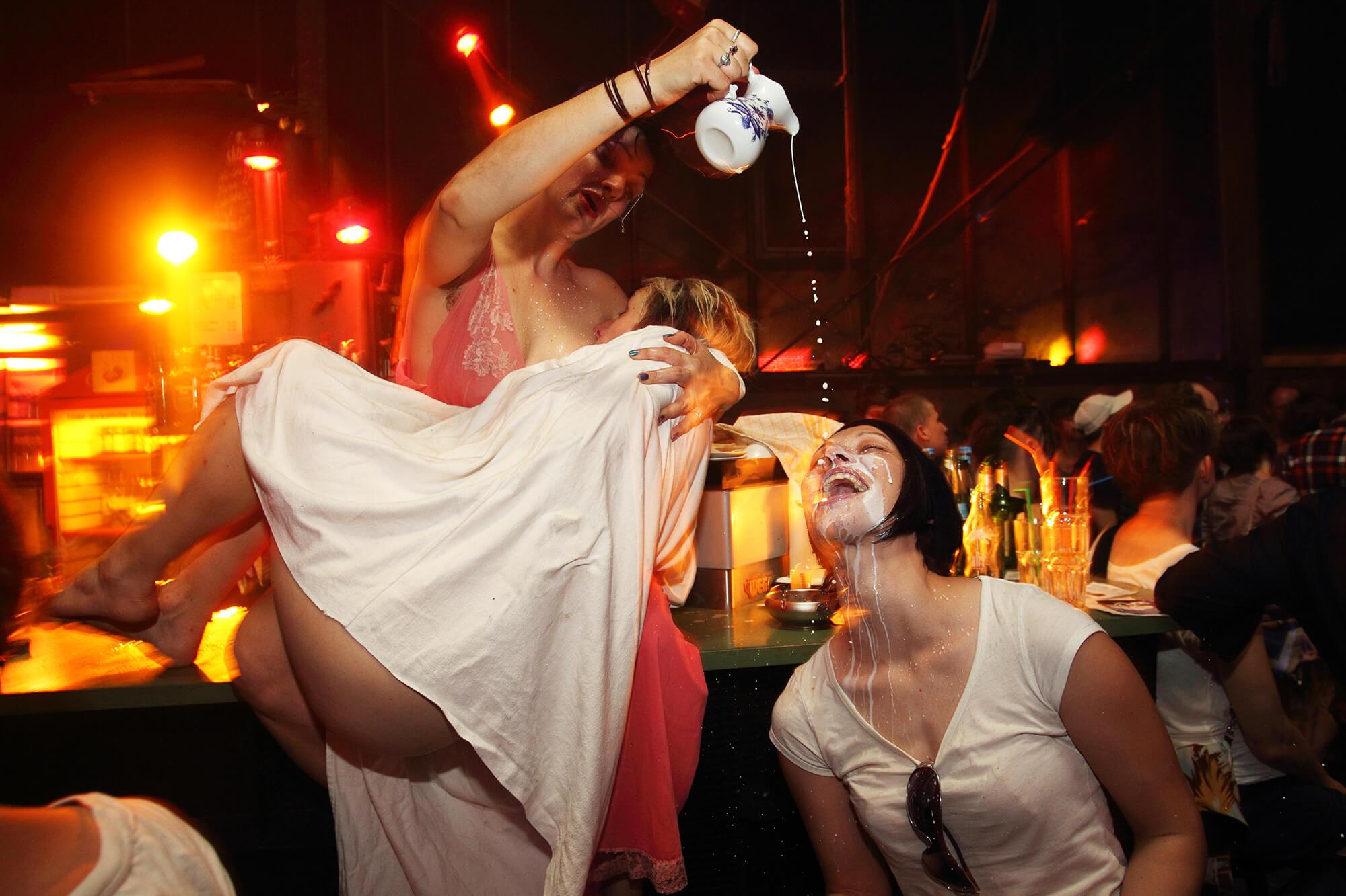Lesbian party scene