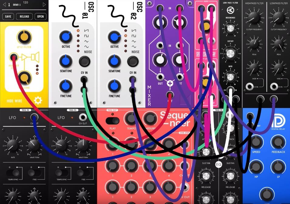 this app turns your ipad into a 39 70s modular synth monster telekom electronic beats. Black Bedroom Furniture Sets. Home Design Ideas