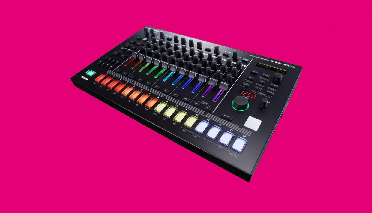 roland 39 s new tr 8s drum machine booms like a futuristic tr 808 telekom electronic beats. Black Bedroom Furniture Sets. Home Design Ideas