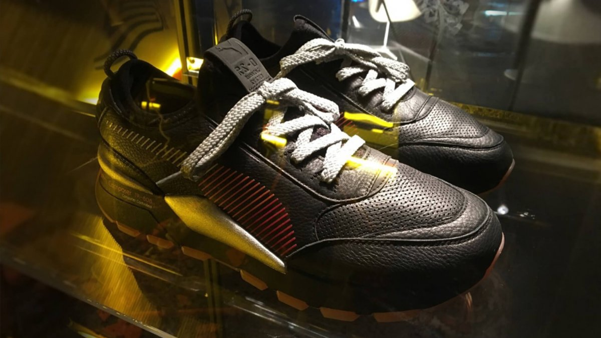 Puma Black And Yellow Running Shoes