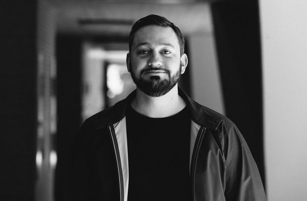 German Music Producer Fritz Kalkbrenner monochrome