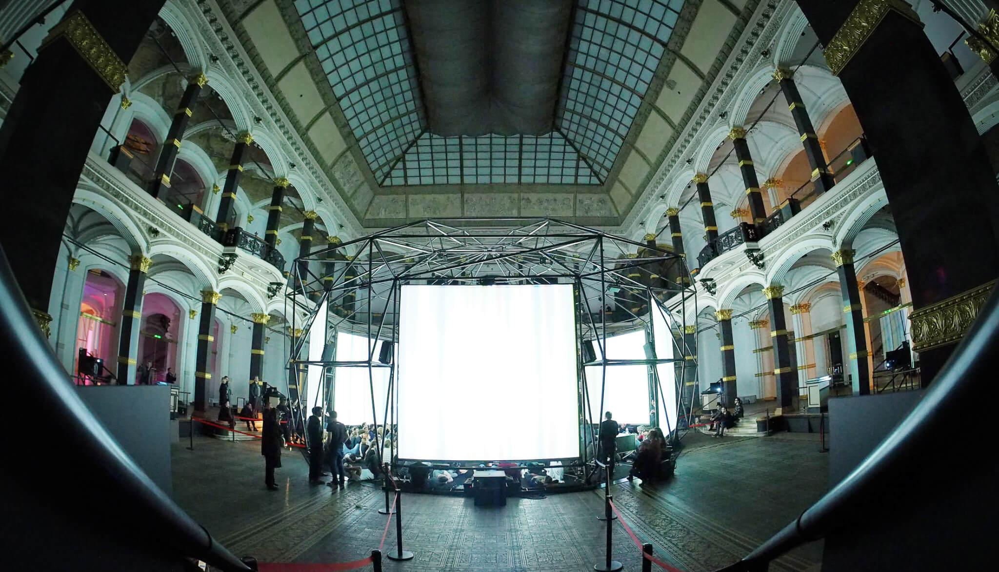 ism hexadome exhibition frank bretschneider pierce warnecke martin gropius bau by udo siegfriedt 2018 01