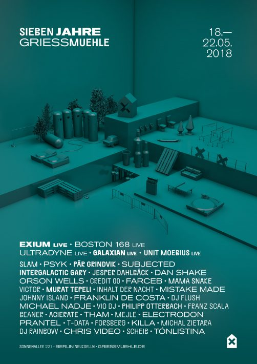 Berlin Techno Club Griessmühle Is Celebrating Its 7th Anniversary With A 96 Hour Rave Poster Flyer Party Neukoelln Sonnenallee