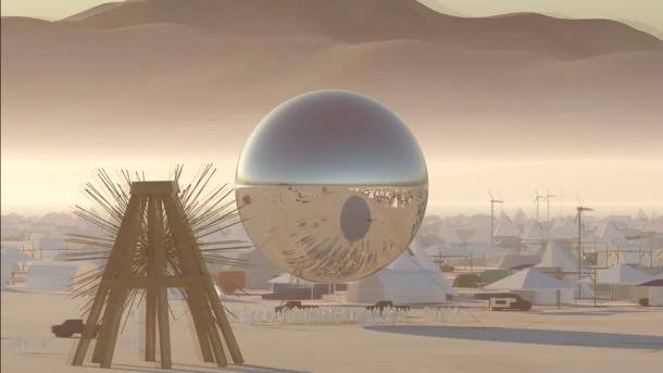 This Video Reveals The 25 Meter Disco Orb That Some Psychopath Made For Burning Man