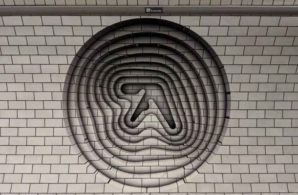 Mysterious 3D Aphex Twin Logos Have Appeared In London And Turin