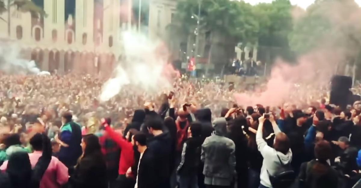 A protest in Georgia.