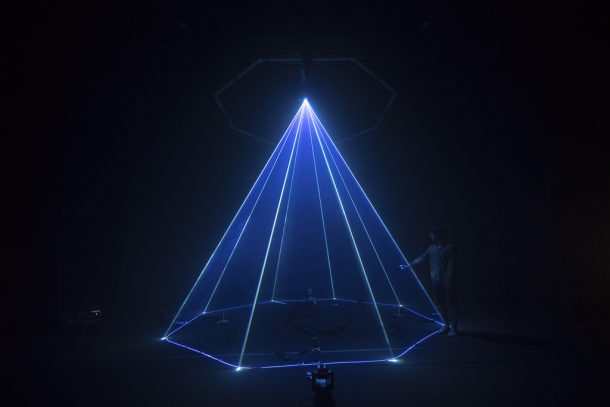 Watch This Laser-Powered Sculpture Of Robotic Mirrors Make Trippy Future Music