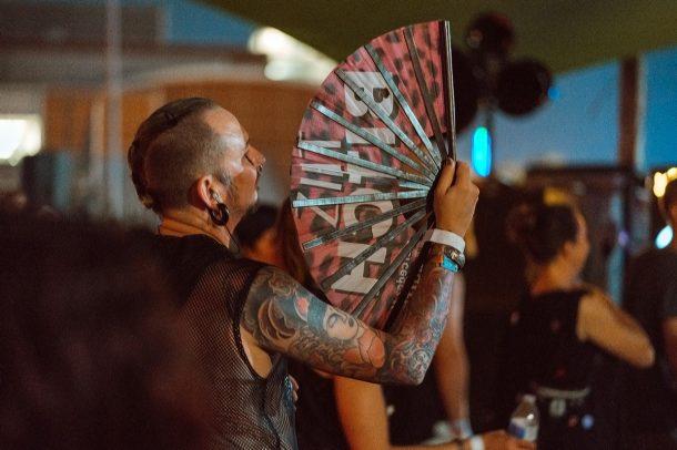 Man with Fan by Yacoub Chakarji, STAUB, About Blank, Techno Berlin