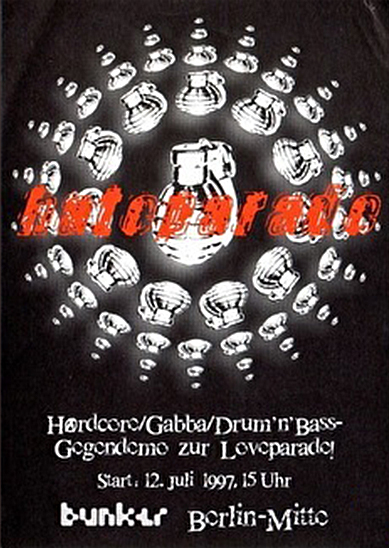 Hateparade, Flyer Artwork
