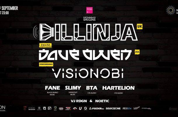 Un line-up cu Dillinja, Visionobi MC, Dave Owen îți garantează că petrecerea Drum&Bass Origins va fi intensă