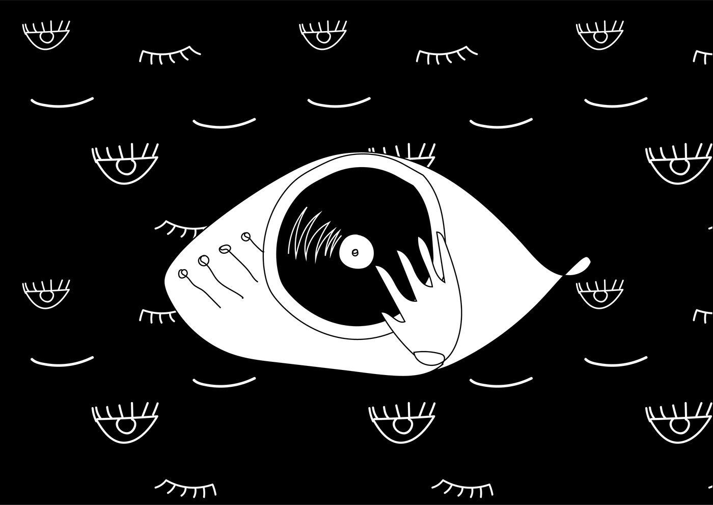 Citește un interviu cu Irina Moroșan, artista care a realizat imaginea seriei de petreceri Lunar / Irina Morosan Musical cliches