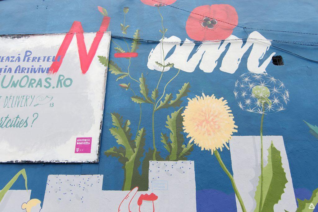 Vezi câteva fotografii cu muralul de la Street Delivery, susținut de Telekom Electronic Beats