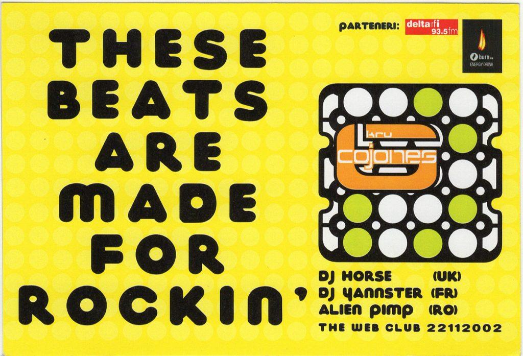 dj horse yannster alien pimp Am scanat 13 flyere pentru a-ți reaminti atmosfera din The Web Club