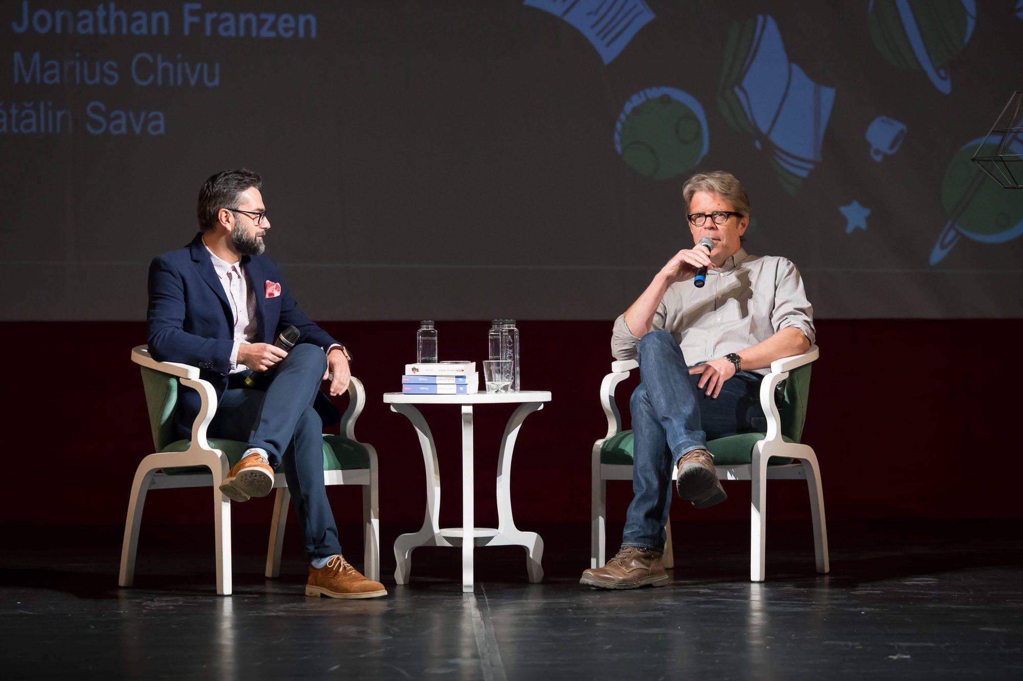 Jonathan Franzen și Marius Chivu la FILIT