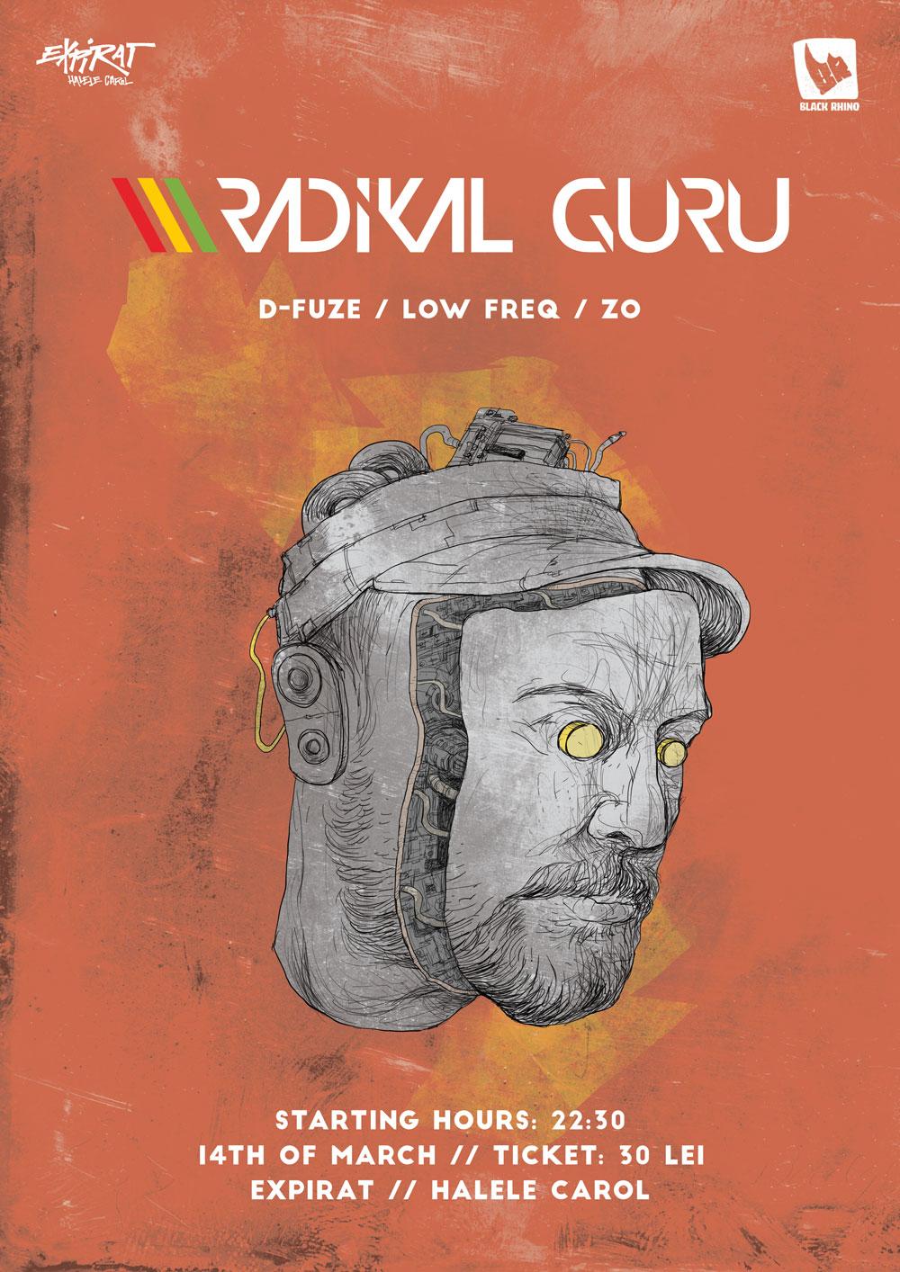 Radikal Guru (PL) @ Expirat. Poster de Robert Obert