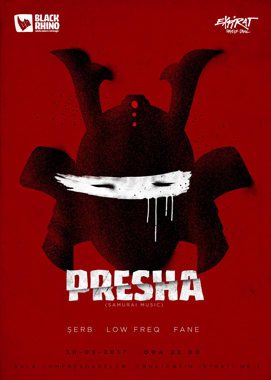 Black Rihno welcomes Presha (Samurai Music). Poster de Agi