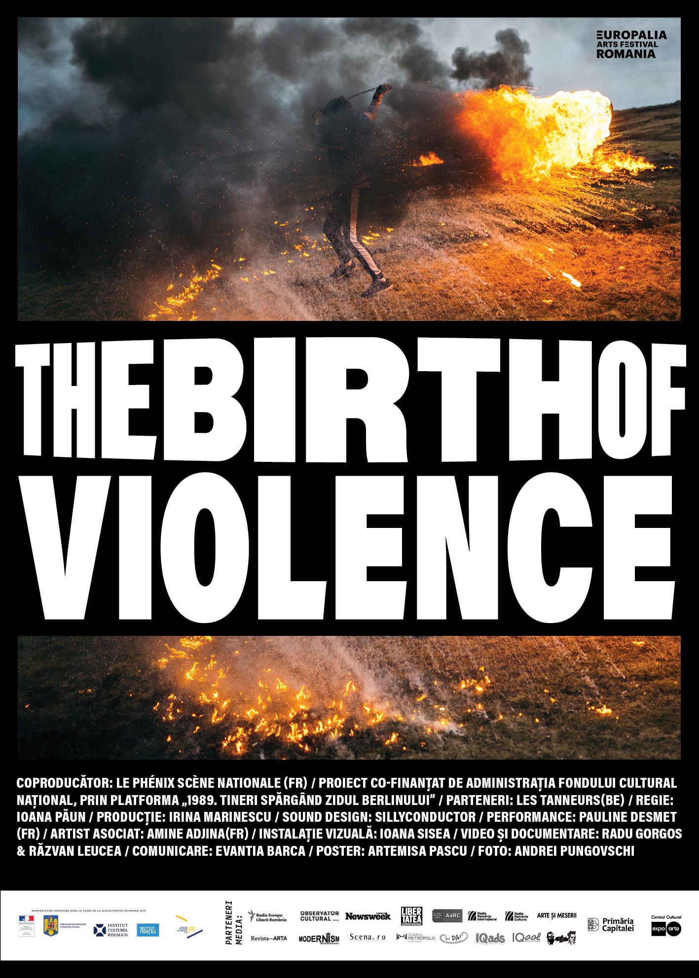 "Afișul ""The Birth of Violence"""
