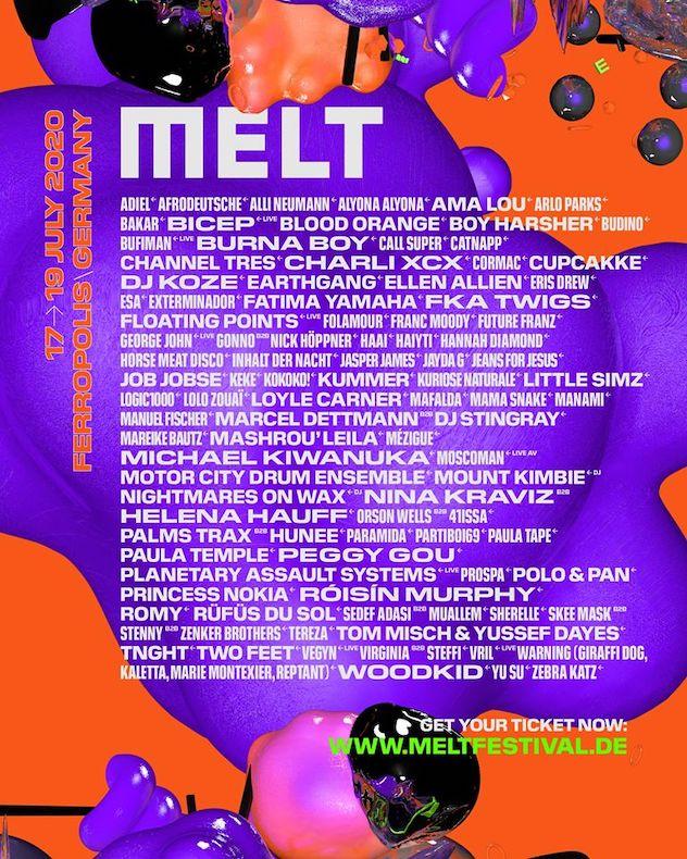 Line up Melt Festival 2020