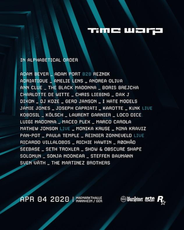 Line up Time Warp 2020