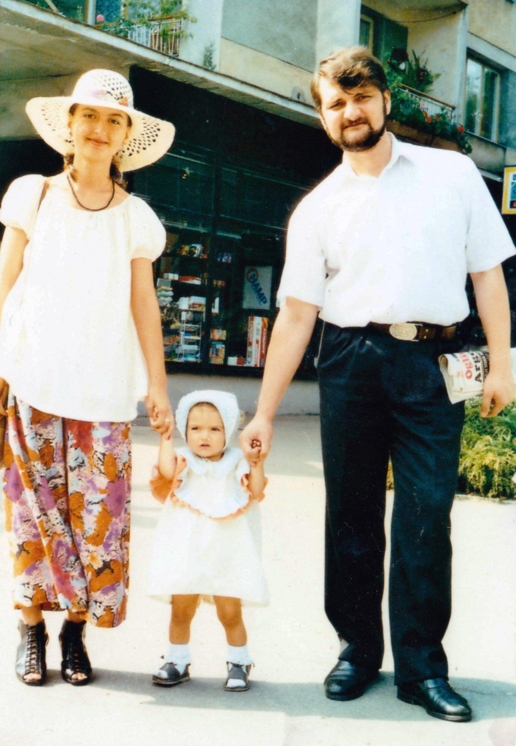 Ioana cu părinții
