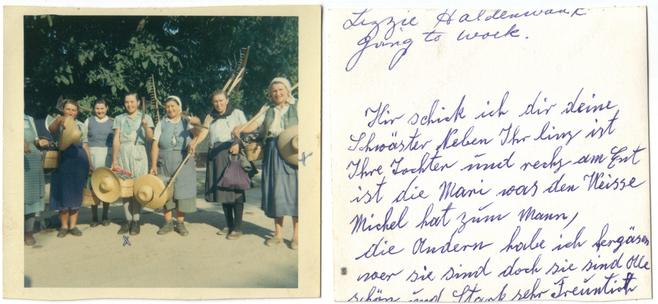 Strămătușa lui Shaun Williams, Liza, cu colegele la colectiv jud. Alba 1970